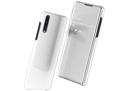 Калъф Тефтер Clear View Window за Samsung Galaxy A50/A50s/A30s, Бял