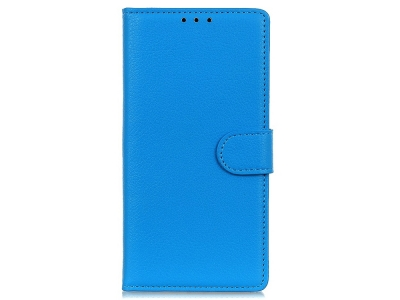 Калъф Тефтер Litchi за Samsung Galaxy A20s, Син