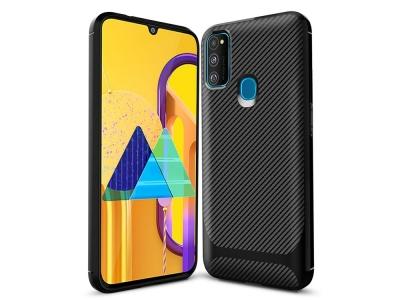 Силиконов калъф Drop-resistant за Samsung Galaxy M21/M30s, Черен