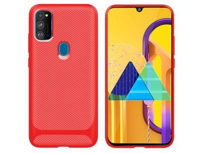 Силиконов калъф Drop-resistant за Samsung Galaxy M21/M30s, Червен