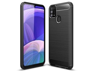 Силиконов Калъф Carbon за Samsung Galaxy M31, Черен