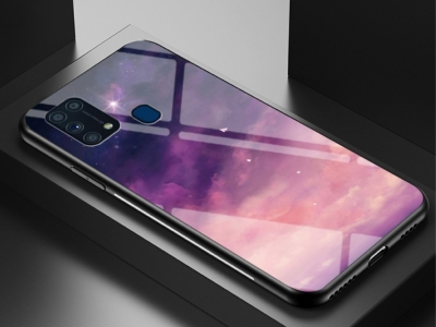 Стъклен Гръб Glass за Samsung Galaxy M31, Розово небе