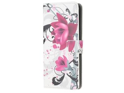 Калъф Тефтер за Samsung Galaxy Note 20/Note 20 5G, Лилави цветя