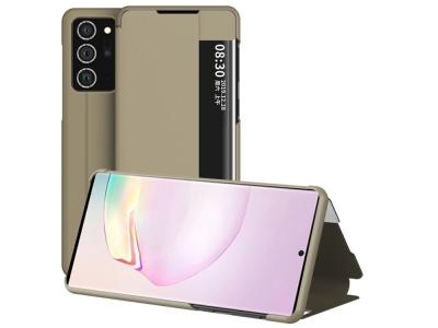 Калъф Тефтер View Flip за Samsung Galaxy Note 20, Златист