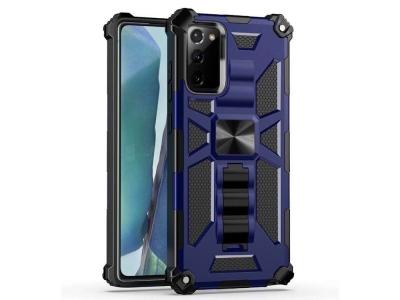 Удароустойчив калъф Kickstand Armor за Samsung Galaxy Note 20/Note 20 5G, Син
