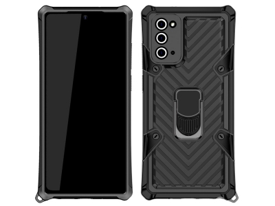 Удароустойчив калъф Kickstand за Samsung Galaxy Note 20/Note 20 5G, Черен