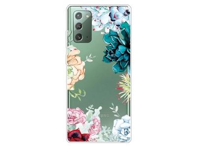 Силиконов калъф за Samsung Galaxy Note 20/Note 20 5G, Красиви цветя