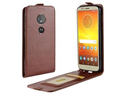 Калъф Тефтер Crazy Horse за Motorola Moto E5/Moto G6 Play, Кафяв