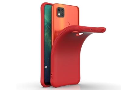 Силиконов калъф Matte за Xiaomi Redmi 9C, Червен