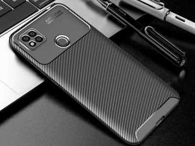 Силиконов калъфBeetle  Carbon за Xiaomi Redmi 9C, Черен