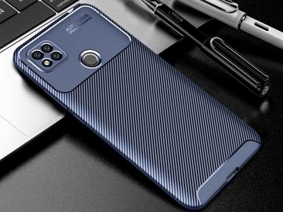 Силиконов калъф Beetle Carbon за Xiaomi Redmi 9C, Син
