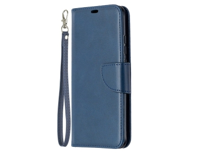 Калъф Тефтер Leather за Xiaomi Redmi 9C, Син
