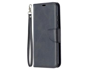 Калъф Тефтер Leather за Xiaomi Redmi 9C, Черен