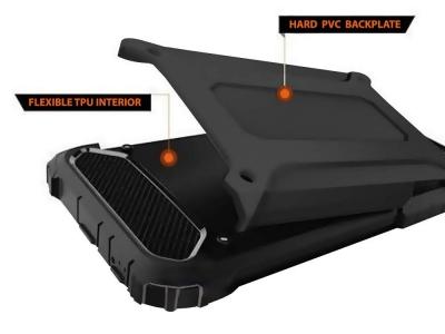 Удароустойчив калъф Armor за Motorola Moto One Fusion Plus, Черен