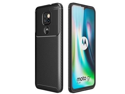 Силиконов Калъф Beetle Carbon за Motorola Moto G9 Play, Черен