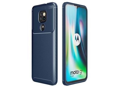 Силиконов Калъф Beetle Carbon за Motorola Moto G9 Play, Син