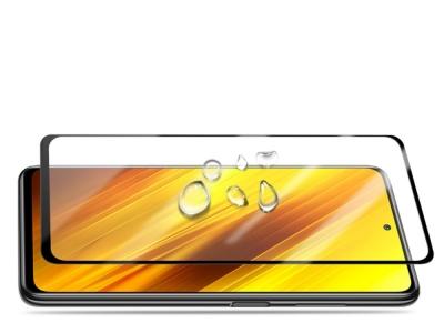 Стъклен протектор 5D Full Glue за Xiaomi Poco X3 NFC, Черен