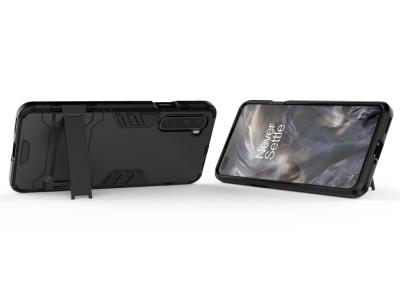 Удароустойчив Калъф с Поставка за OnePlus Nord, Черен