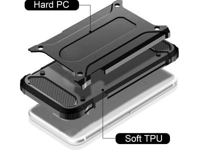 Удароустойчив калъф Armor за iPhone 12 Mini, Черен