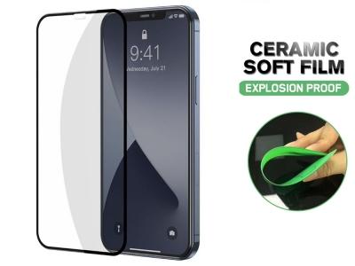 Стъклен Протектор Full Glue Hard Ceramic за iPhone 12 Mini, Черен