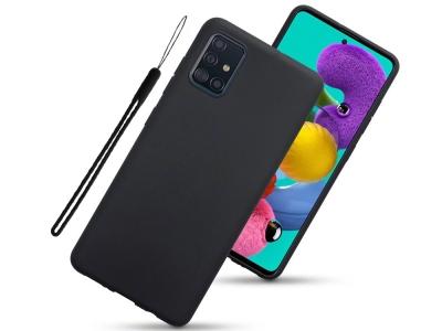 Калъф Гръб MATTE с връзка за Samsung Galaxy A51 (2019), Черен