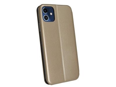 Калъф Тефтер ELEGANCE за iPhone 12 / 12 Pro, Златист