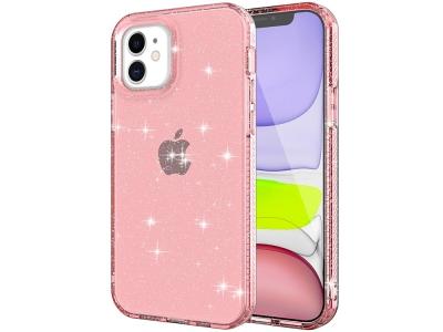 Силиконов калъф Glittery Powder iPhone 12 Pro/12, Розов