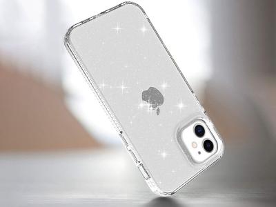 Силиконов калъф Glittery за iPhone 12 Pro/12, Прозрачен