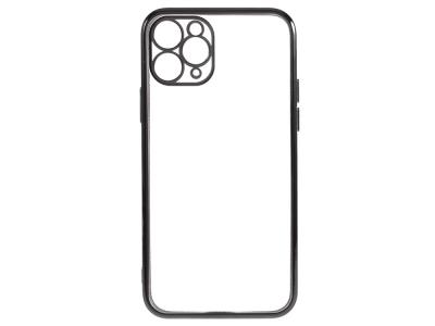 Силиконов Гръб Electroplating за iPhone 12 Pro Max, Черен