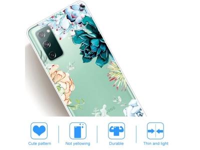 Силиконов калъф за Samsung Galaxy S20 FE / S20 Fan Edition, Пъстри цветя
