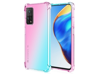 Силиконов Гръб Anti-Drop за Xiaomi Mi 10T 5G/Mi 10T Pro 5G, Розов/ Зелен