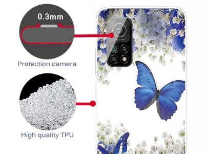 Силиконов калъф за Xiaomi Mi 10T 5G/10T Pro 5G, Синя Пеперуда