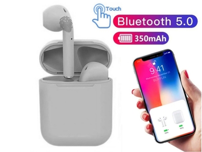 Слушалки TWS Macaron Bluetooth 5.0 Pop Up Toch Charging Box, Сив