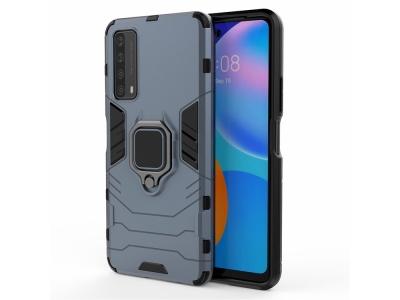 Удароустойчив Калъф  Kickstand с поставка за Huawei P smart 2021/Y7a, Син