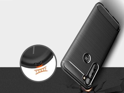 Силиконов Калъф Carbon за Motorola Moto G Stylus / G Pro, Черен
