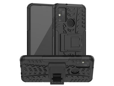 Удароустойчив калъф с поставка Hybrid за Huawei Honor 9x Lite, Черен