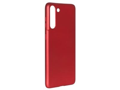 Силиконов Гръб Level за Samsung Galaxy S21 Plus, Червен