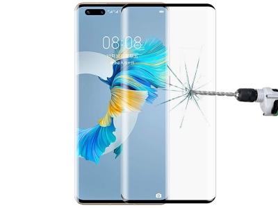 Стъклен протектор 5D Full Glue за Huawei Mate 40 Pro, Черен