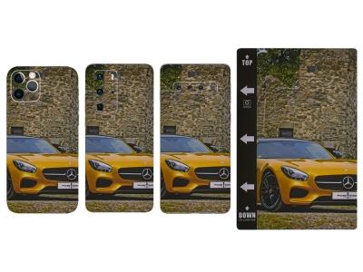 Изрязване на Фолио Протектор за телефон (Гръб), Жълта кола