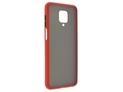 Удароустойчив Гръб Bumper за Xiaomi Redmi Note 9 Pro / Note 9S, Червен