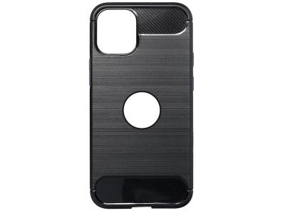 Силиконов Калъф Carbon за iPhone 12 / 12 Pro (6.1) with hole, Черен