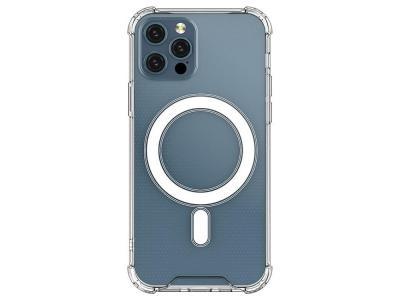 Удароустойчив Калъф MagSilicone за iPhone 12 Pro Max, Прозрачен