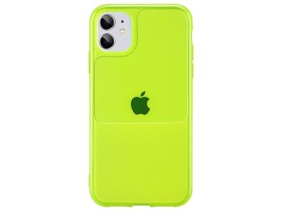 Силиконов калъф Window Case за iPhone 11, Зелено-жълто