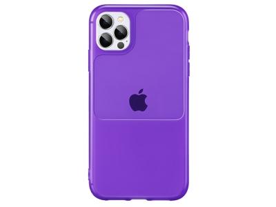 Силиконов калъф Window Case за iPhone 12 Pro Max, Лилав