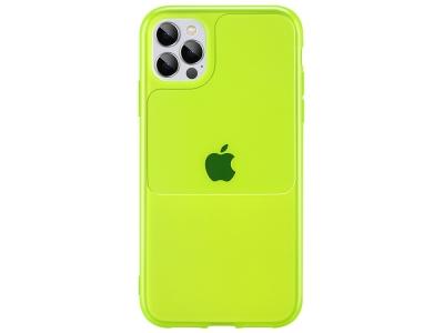 Силиконов калъф Window Case за iPhone 12 Pro Max, Зелен-жълт
