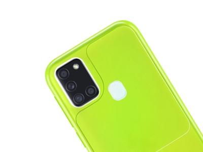 Силиконов калъф Window Case за Samsung Galaxy A21s, Зелен- жълт