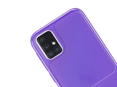 Силиконов калъф Window Case за Samsung Galaxy A51, Лилав