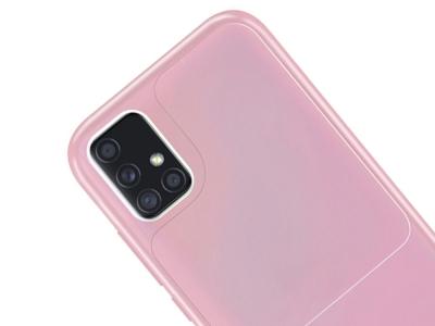 Силиконов калъф Window Case за Samsung Galaxy A51, Розов