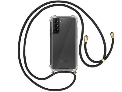 Силиконов калъф с връзка Cord Case за Samsung Galaxy S21 Plus, Черна връзка