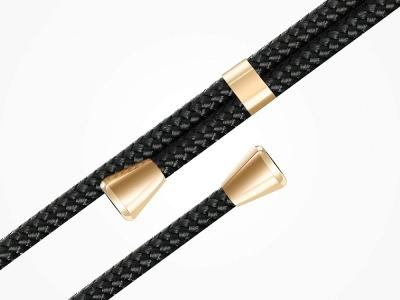 Силиконов калъф с връзка Cord Case за Huawei P20 Lite, Черна връзка